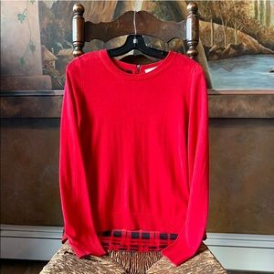 ✨🌹MIchael Kors Red Pullover Sweater 🌟S ✨